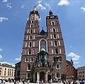 Vertical Panorama of St. Mary's Church - Rynek (Market Square) - Krakow - Poland (9195486560).jpg