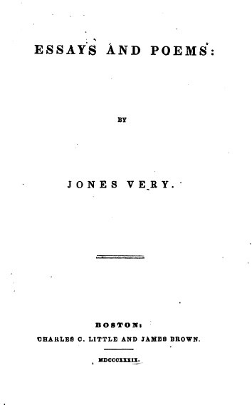Very-Essays and Poems