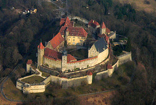 Veste Coburg hill castle in the German city of Coburg
