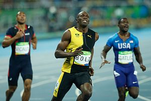 Athletics at the 2016 Summer Olympics - Usain Bolt winning the 100 m final