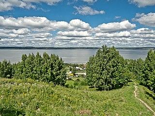 Lake Galichskoye lake in Russia
