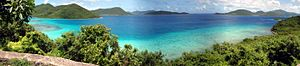 United Kingdom–United States relations - A view towards the British Virgin Islands from the US Virgin Islands.