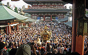 View of mikoshi from sensoji Sanja Matsuri 2006-3