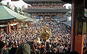 View of mikoshi from sensoji Sanja Matsuri 2006-3