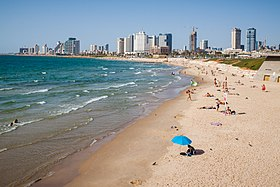 View of the coastline from Old Jaffa - Tel Aviv.jpg