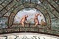Villa giulia, portici con affreschi di pietro venale e altri, pergolato 40 girandola con stemma del monte e fagiano.jpg