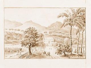 Vista da Fazenda Pombal, Colônia Leopoldina, Bahia
