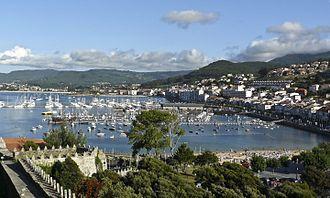 Baiona, Pontevedra - Image: Vista do porto de Baiona desde Monterreal cropped