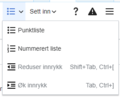 VisualEditor Toolbar Lists and indentation-nb.png