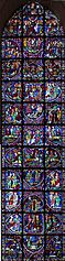 Stained glass windows of the ambulatory of Cathédrale Notre-Dame de Chartres baie 000