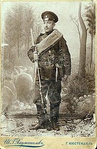 Vladimir Karamanov as a soldier in August 1897 - 2.jpg