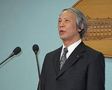 Voa chinese Lai Hao-min Minister appointee to the Ministry of Justice 24aug10 300.jpg
