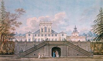 Wilanów - Wilanów Palace as seen from the park by Zygmunt Vogel, 1791-92.