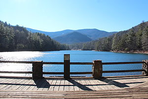 Blairsville, Georgia - View of Lake Trahlyta in Vogel State Park
