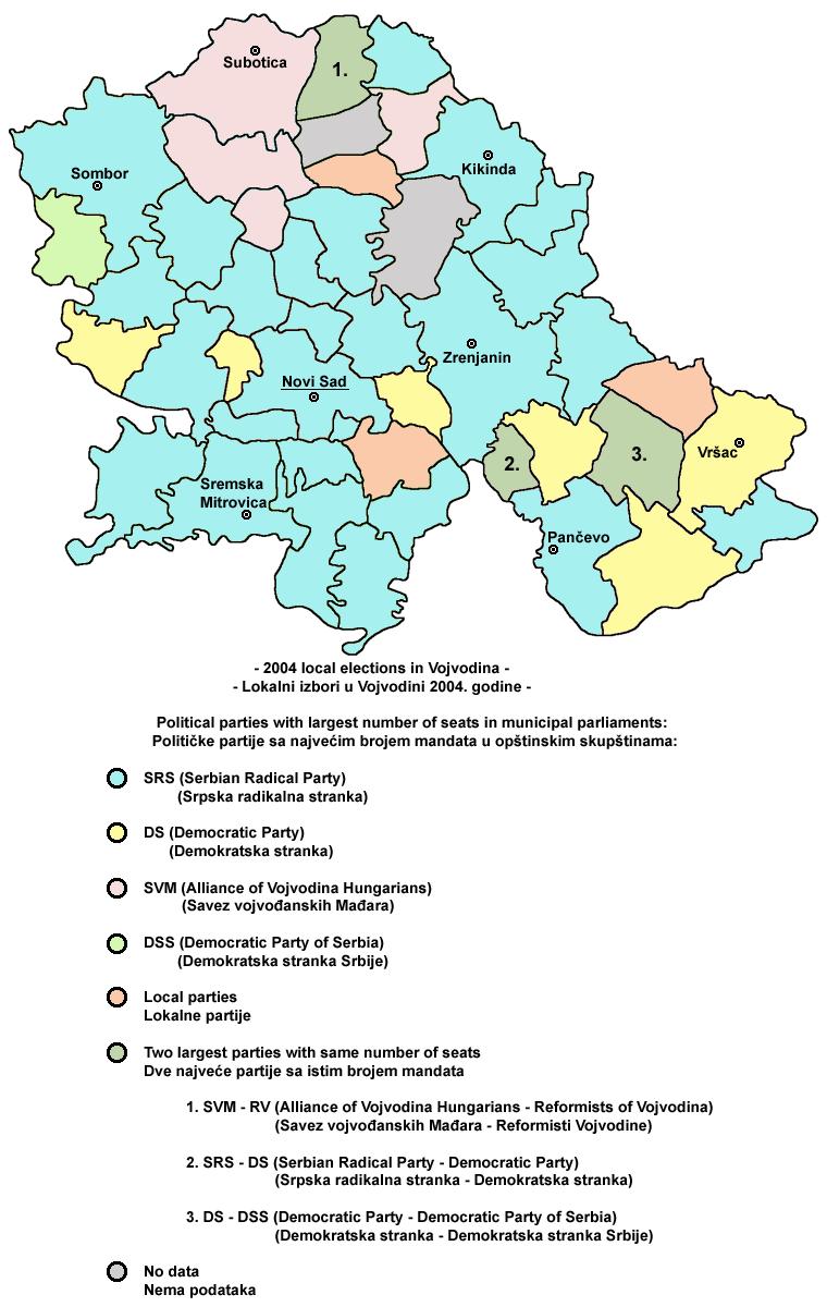 Vojvodina politics map