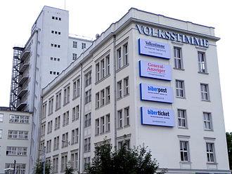 Volksstimme (Saxony-Anhalt) - Volksstimme office building located near Magdeburg Hauptbahnhof