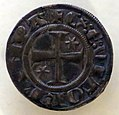 Volterra, grosso al tipo agontano del vescovo ranieri III belforti, 1316-21 ca. 02.jpg