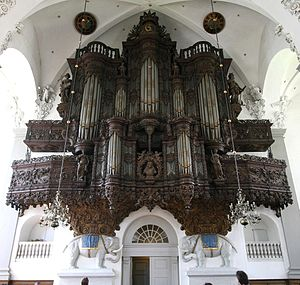 Church of Our Saviour, Copenhagen - The organ facade