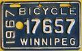 WINNIPEG MANITOBA 1967 -BICYCLE PLATE - Flickr - woody1778a.jpg