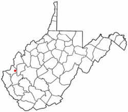 Location of Milton, West Virginia
