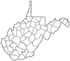 Location of Shady Spring, West Virginia