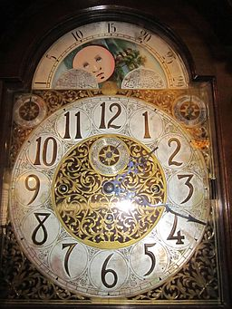 W & H Sch grandfather clock face 1