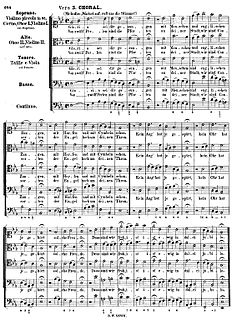 Lutheran chorale musical setting of a Lutheran hymn