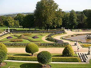 Parterre - The left hand side of the completely symmetrical parterre at Waddesdon Manor, England
