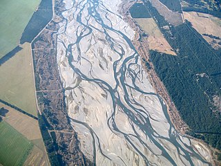 Braided river A network of river channels separated by small, and often temporary, islands