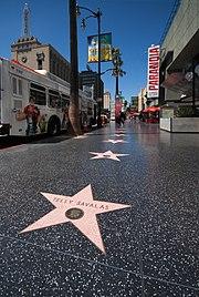 Une étoile du Walk of Fame.