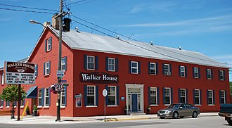 Southampton, Ontario - The Walker House, a historic hotel in the village since the 1860s.