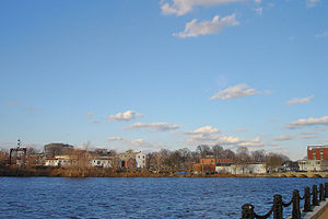 Looking across the Charles River to Waltham