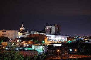 Washington, Pennsylvania - Downtown Washington at night