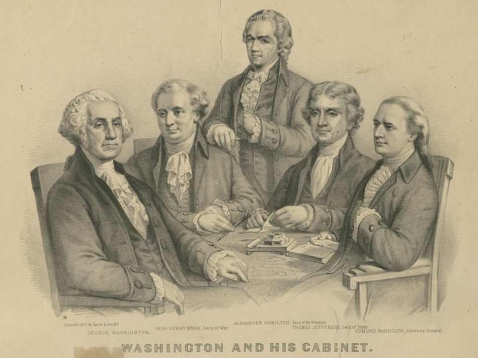 Washington and His Cabinet (4360094798)