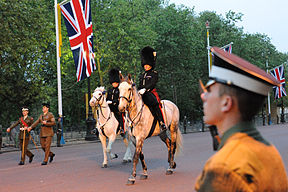 Wedding of Prince William of Wales and Kate Middleton rehearsal horses.jpg