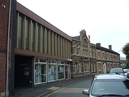 "Wellington Library, where the poet Philip Larkin once worked. The alley to the left of the photo is sign-posted ""Larkin Way"""