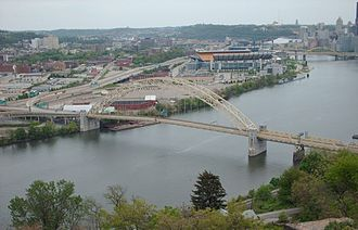West End Bridge (Pittsburgh) - Image: West End Bridge From West End Overlook