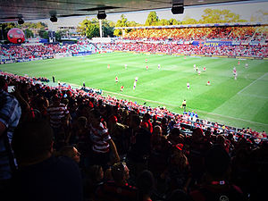 Western Sydney Wanderers FC - A Wanderers match in progress at Parramatta Stadium