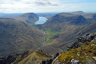 Wast Water - Image: Westmorland cairn Great Gable