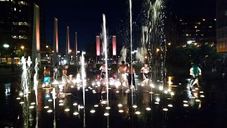 Rose Fitzgerald Kennedy Greenway - Rings Fountain in the Wharf District Parks