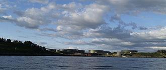 Whiddy Island - Whiddy Island oil storage tanks