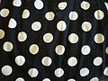 White polka dots on black cotton fabric.JPG