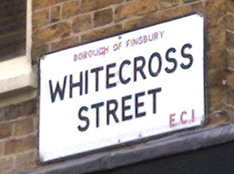 Metropolitan Borough of Finsbury - Surviving Borough of Finsbury road sign