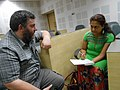 WikidataWK17 - Asaf Bartov during Interview session by The Telegraph 01.jpg