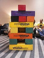 Wikimania 2015-Wednesday-Volunteers play Weasel-Jenga (3).jpg