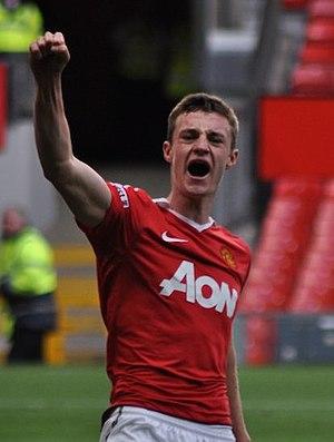 Will Keane - Keane celebrating a goal for Manchester United reserves in 2011
