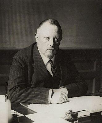 Willem Hendrik Keesom - Willem Keesom in 1926