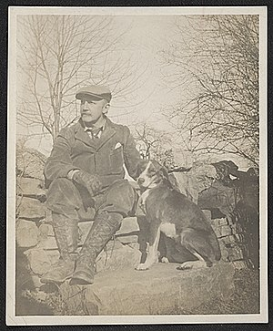 William Anderson Coffin - William Anderson Coffin with his dog, ca. 1900, unidentified photographer. William Anderson Coffin papers, Archives of American Art, Smithsonian Institution.