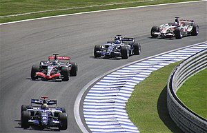 2006 Brazilian Grand Prix - Both Williams retired on the first lap after colliding with each other.