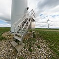 Wind turbine base and steps, Jutland, Denmark 2017-04-14.jpg